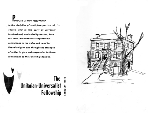 UU Mortgage Burning Program May 1978 Cover