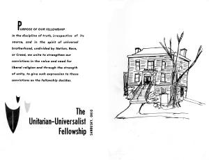 UU Mortgage Burning Program May 1978 Cover