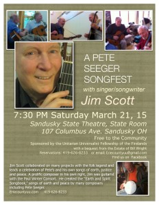 Poster Seeger Songfest 3.11.14